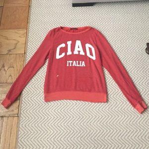 Wildfox Ciao Italia Pullover Crew Sweatshirt XS